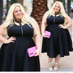 Skirts - Black midi skirt